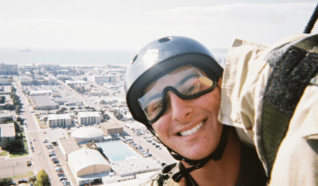 Joel Graves skydiving